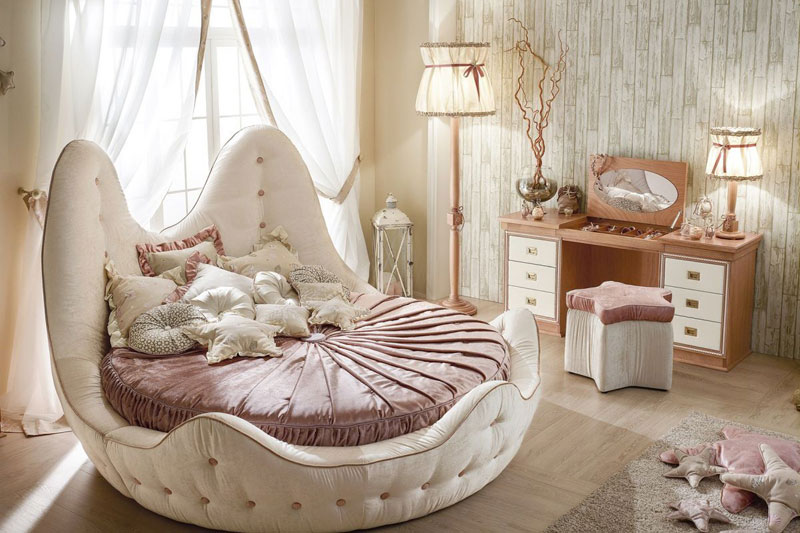 round bed ideas for different bedroom interior designs