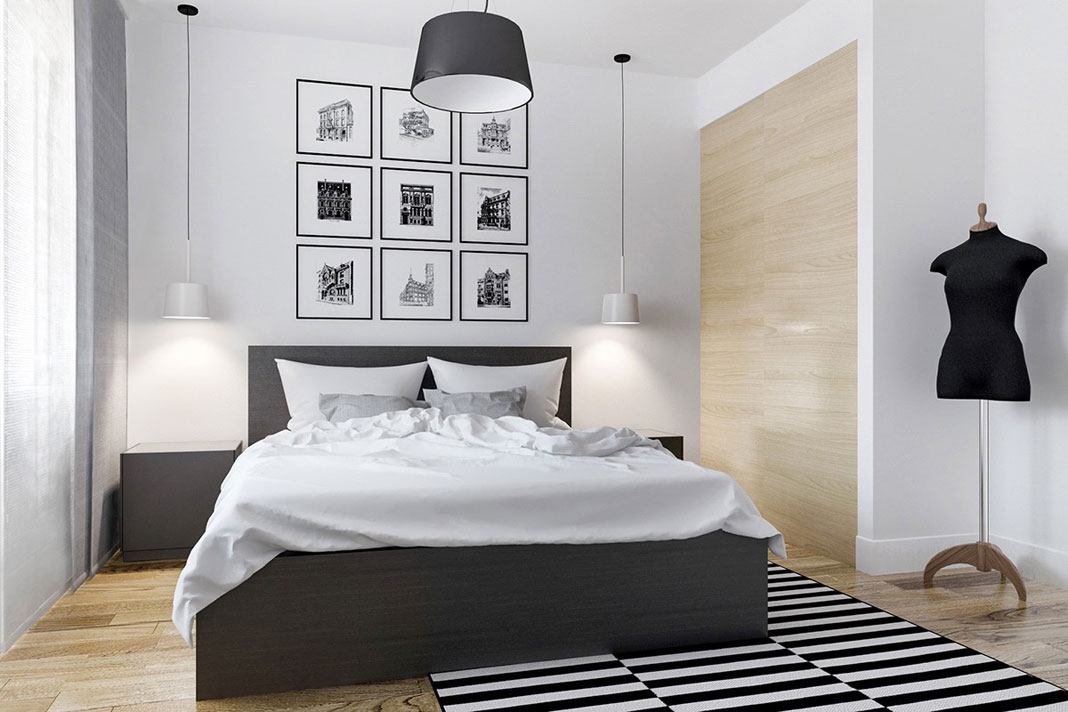 Elegant Black And White Interior Design For Your Bedroom